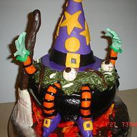 Witches Brew Halloween Cake by Dana