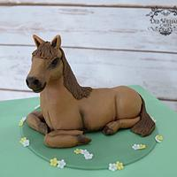 Horse on a cake!
