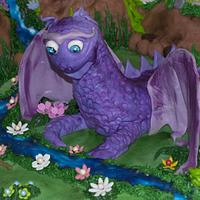 Tangled Tower and dragon cake  by liesel