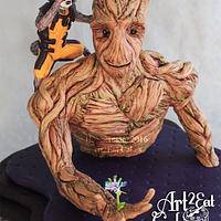 "Groot and Rocket, ""Guardians of the Galaxy"", Cake Con Collab"
