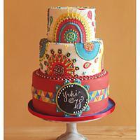 Coachella - Inspired Debutante Cake