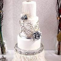 Silver Brilliance Wedding cake