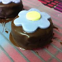 Brazilian Honey Cake, spices like cinnamon,cloves and nutmeg covered with melted dark chocolate . by Paula Stonoga
