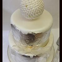 "2 tier ""rustic"" wedding cake by Daba1"