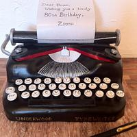Underwood Typewriter Cake