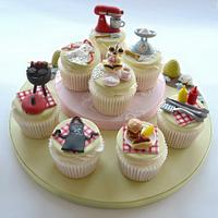 His and hers cookery cupcakes