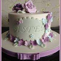 Lovely Lilac Birthday Cake by Cheryll