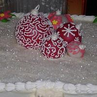 Christmas Ornament Cake by Angie Mellen