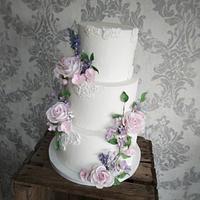 Spring time wedding cake