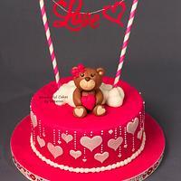 Valentines day cake