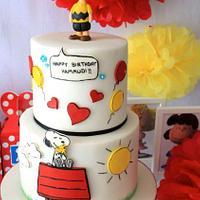 Snoopy/Charlie Brown cake
