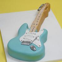 fender guitar cake