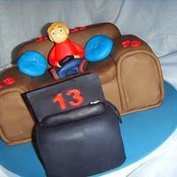 PS3 Fan 13th Birthday Cake by Christine