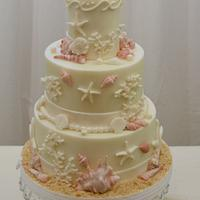 Shells, Sand and Coral Cake