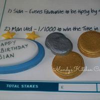 Betting Slip Cake by Mandy Morris