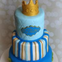 Royal baby shower cake.