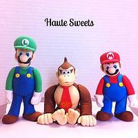 Mario Bros. and Donkey Kong figures