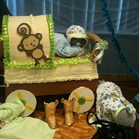 my monkey babyshower an acessories