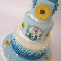 Frozen Fever 3 Tier Cake