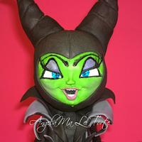 maleficent topper cake