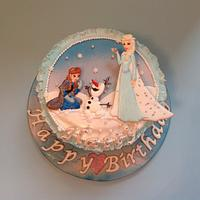 Frozen Birthday Cake by Rachel Bosley