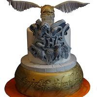 Harry Potter and Lord of the Rings themed cake