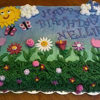 Flower Garden Birthday Cake