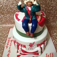 40th Birthday LiverPool cake