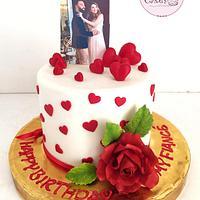 Romantic Lovers Cake