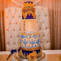 Dream Blue Gold Wedding