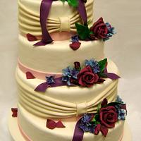 Rouched wrapping with Flowers
