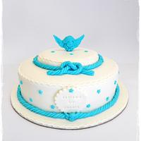 Angel Baptism Cake