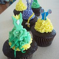 Disney Princess Dress Cupcakes