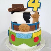 Toy story buzz & woody style cake