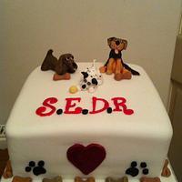 Dog rescue cake