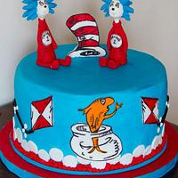 Thing 1 and Thing 2 cake