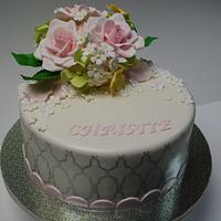 Spring flowers bouquet Cake
