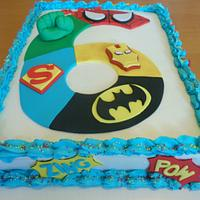 Marvel Superhero and Avengers Birthday Cake