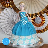 Frozen Elsa doll cake tutorial