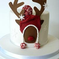 Rudolf in a wooly hat