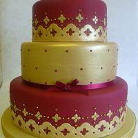 Asian inspired Baroque Wedding cake by Marcia Campbell