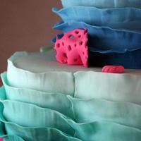 Ombre ruffle mermaid cake by BeesNees