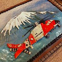Coast Guard Helicopter Cookie