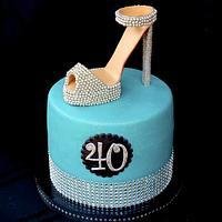 Sparkly Shoe Cake
