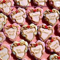 Conversation Hearts Mini Cookies by Hiromi Greer