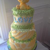 Simba Baby Shower Cake by Oribel
