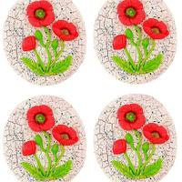 Poppy flower cookies