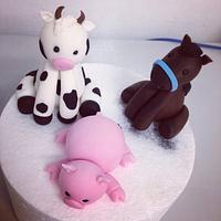 Farm animal figurines  by Bianca Marras