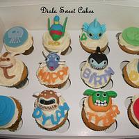 Sky landers cupcakes  by DialaSweetCakes