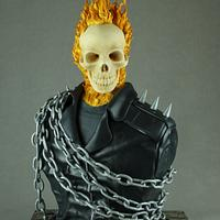Ghost Rider Cake Bust - Cake Con Collaboration